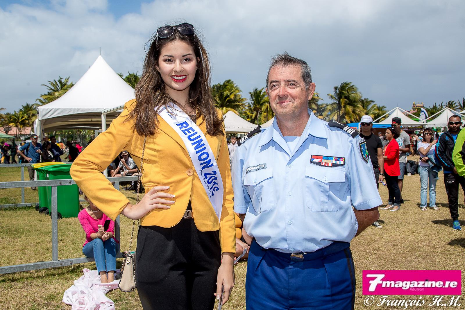 Avec le colonel Luc Auffret, commandant de la Gendarmerie de La Réunion