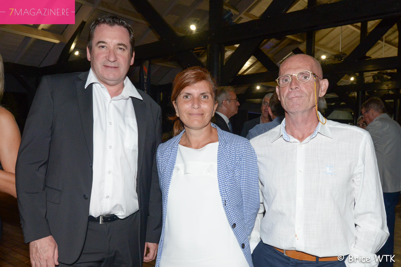 Pascal Turonnet, directeur du Mercure Créolia, Mireille Helou, directrice Orange Réunion/Mayotte, et son époux
