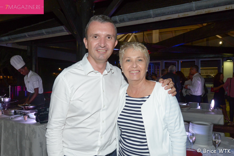 Christophe Adam du LUX et Katherine Chatel, directrice de l'agence Odyssée