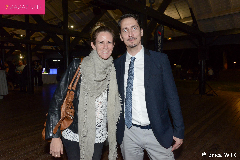 Erwan Edern, responsable Partenariats et Communication Air France Réunion, et son épouse