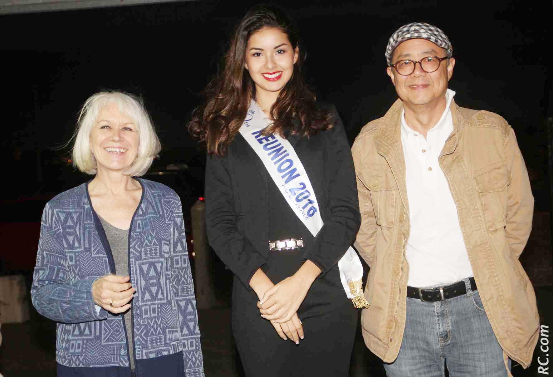 Miss Réunion avec Isabelle Lemarchand et son époux