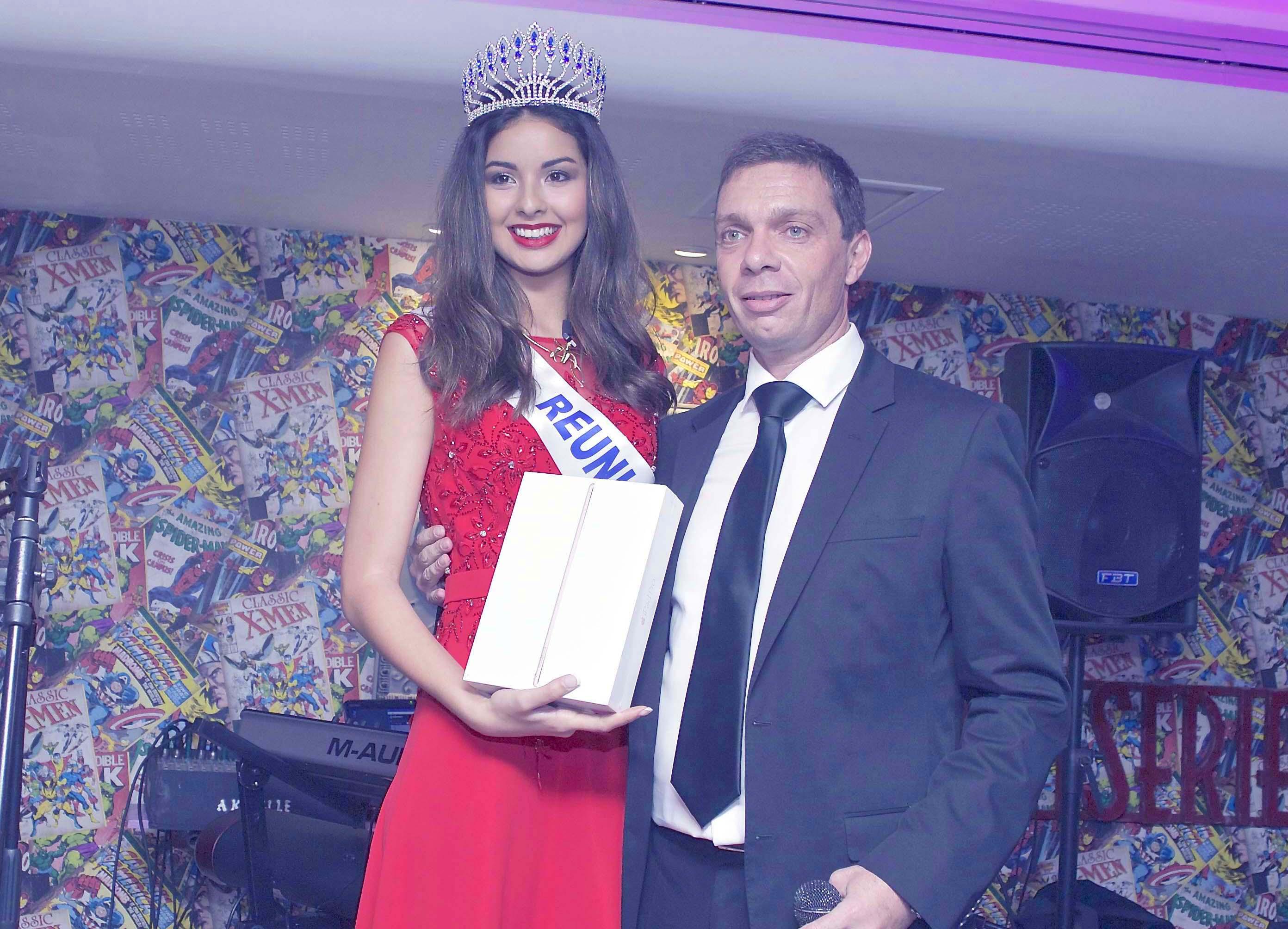 Jean-Charle Ottavi, le président du Casino de Saint-Denis, avait profité de l'occasion pour offrir un beau cadeau à Ambre N'guyen