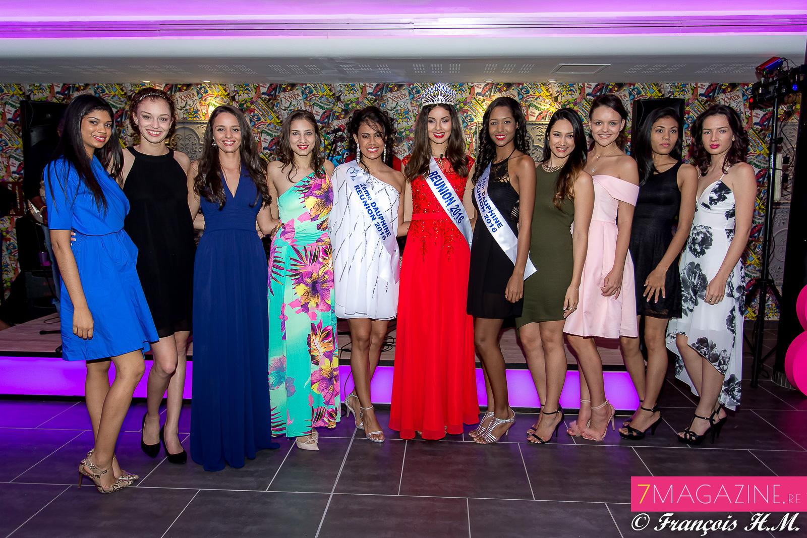 Les candidates Miss Réunion 2016