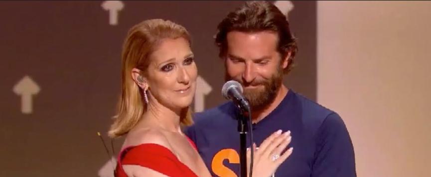 Céline Diion consolée par Bradley Cooper