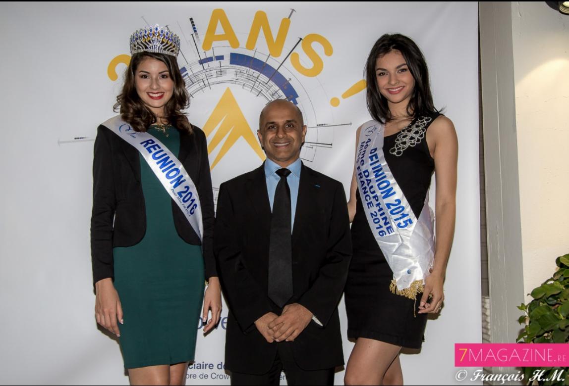 Très fort l'ami Al: deux belles Miss Réunion à sa soirée!