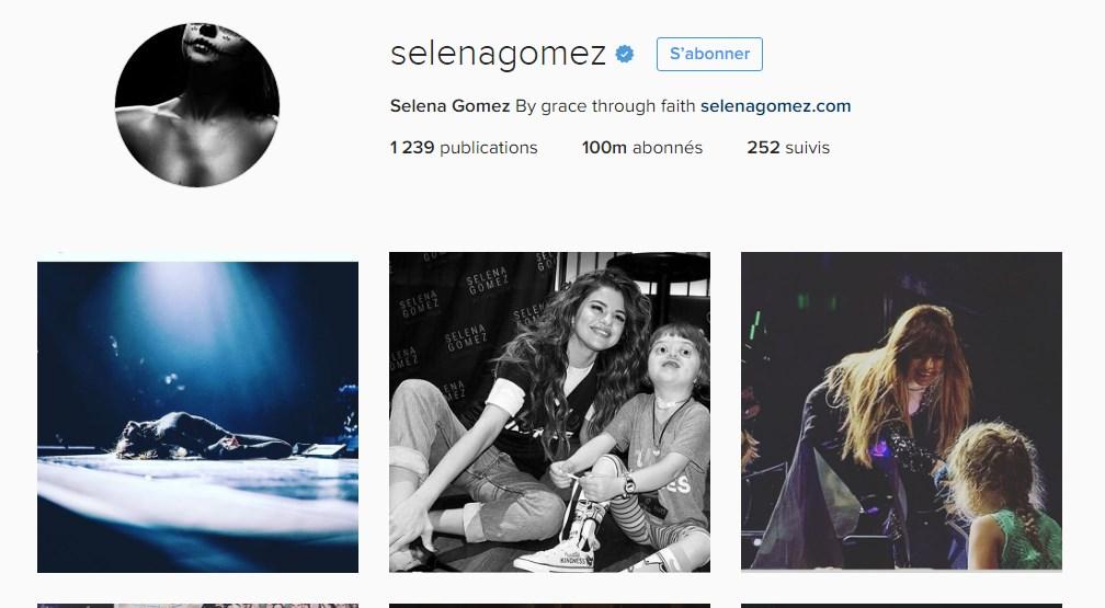 Instagram: record de 100 millions d'abonnés pour Selena Gomez