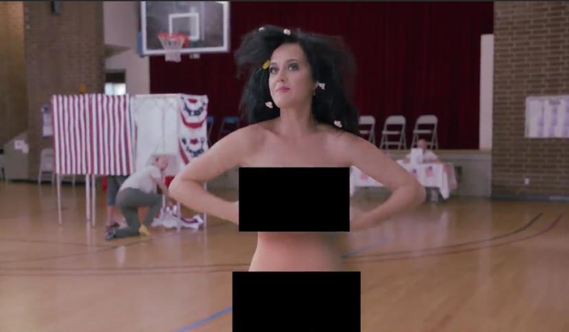 Katy Perry se dénude pour inciter les américains à voter