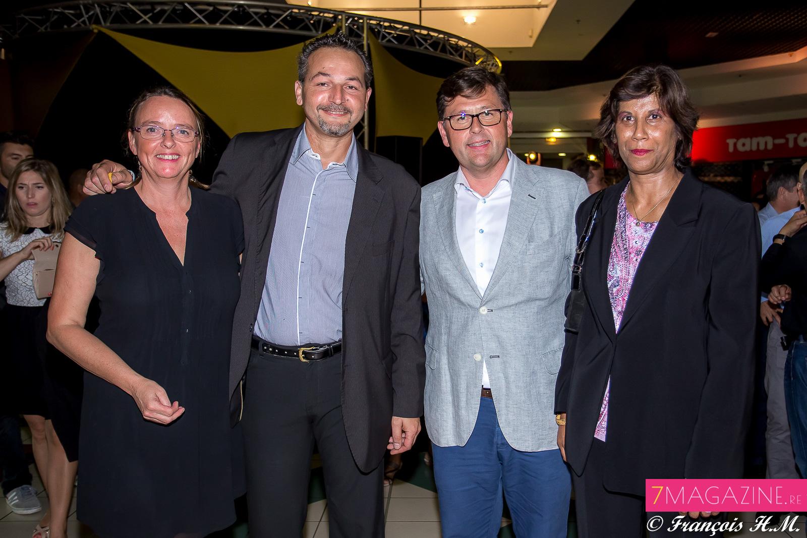 Marina Chalime, Freddy Derimer, Olivier Langlet et Annie Mourgaye