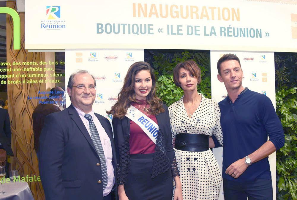 Stéphane Fouassin, président de l'IRT, Ambre N'guyen, Angélique Payet, secrétaire général de be aware, et le célèbre Stéphane Jobert