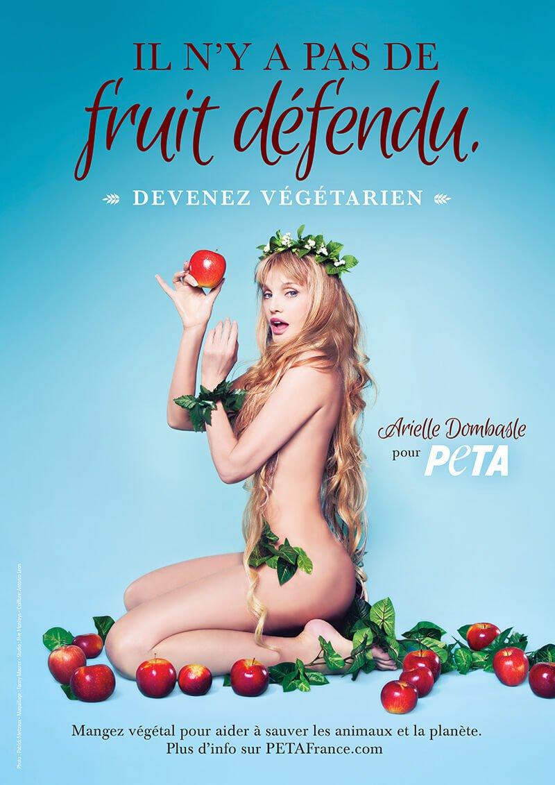 Arielle Dombasle se dénude pour la cause végétarienne