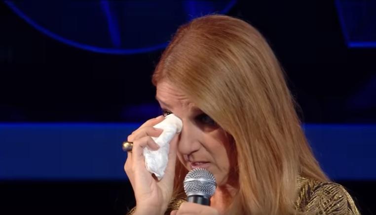 Céline Dion en larmes dans le « grand show»