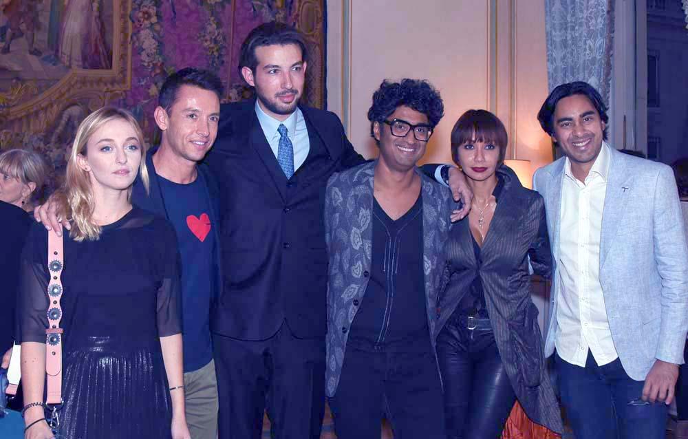 Manon et Arnaud avec la diaspora réunionnaise de Paris: Stéphane Jobert, Sébastien Folin, Angélique Payet, Elias Akhoun