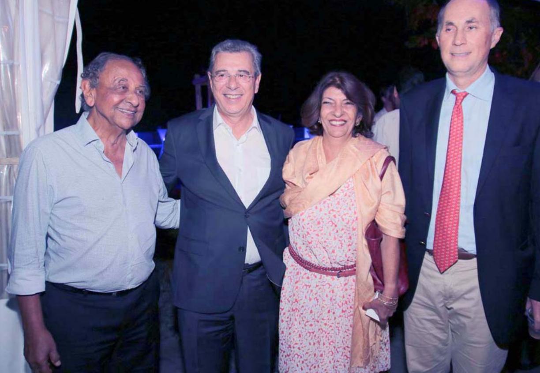 Abdéaly Goulamaly, Jacques et Massi Rivière, Daniel Moreau