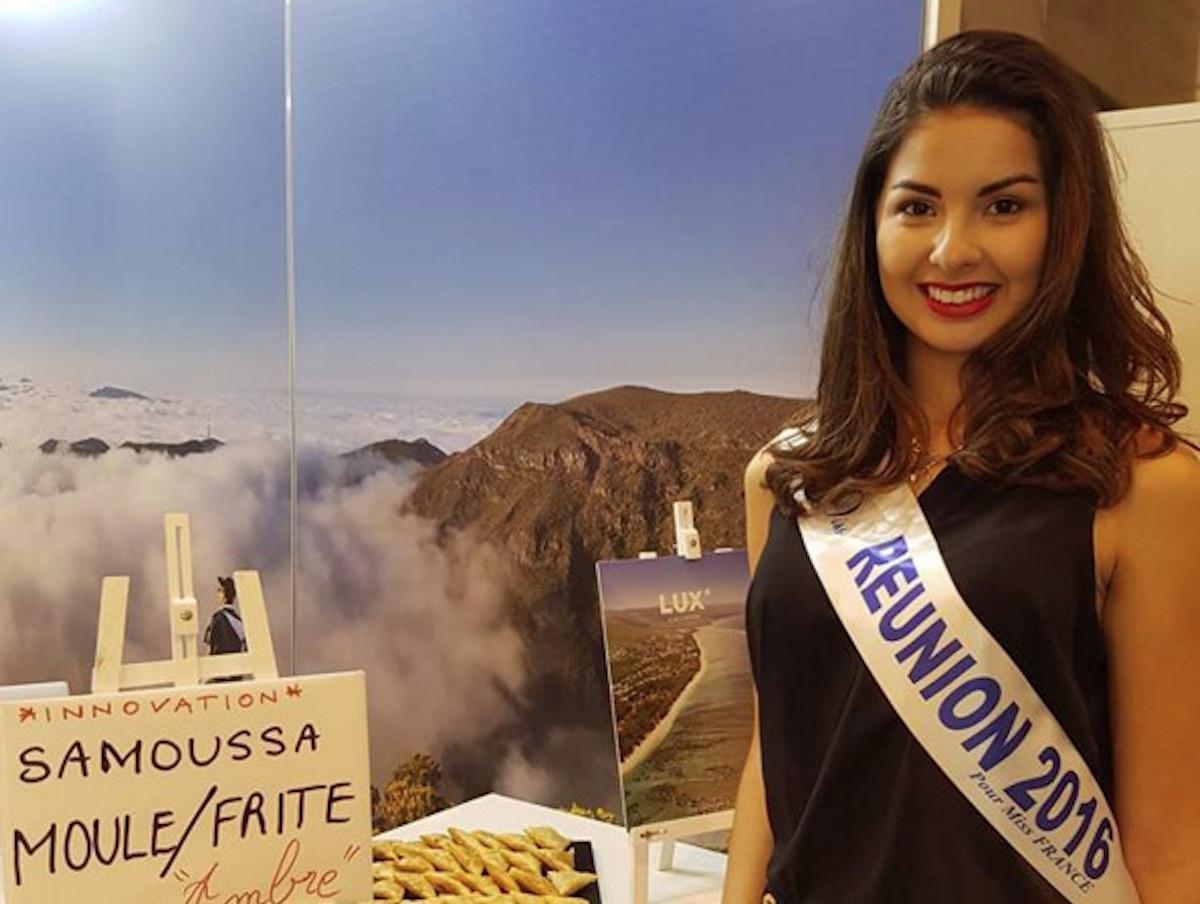 En Belgique, Miss Réunion lance le samoussa moule frite