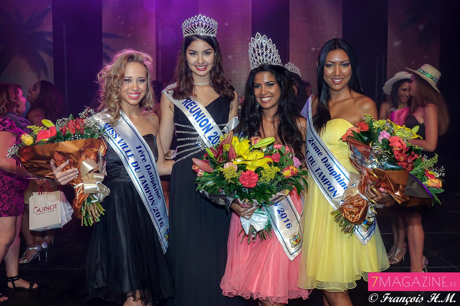 Les lauréates avec Ambre N'guyen, Miss Réunion 2016