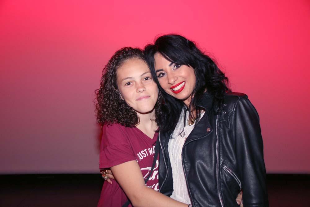 Avec Malorie Grondin, jeune comédienne du film