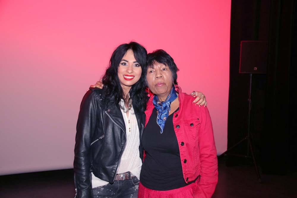 Avec sa mère Roselyne