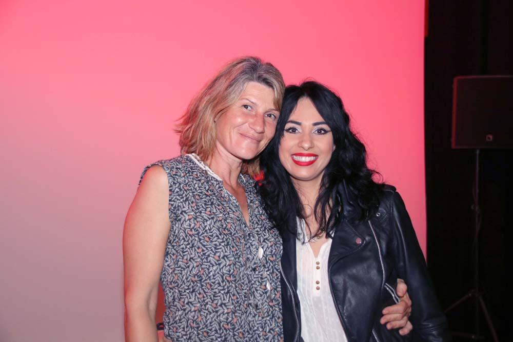 Avec Laurence Donat, maquilleuse du film