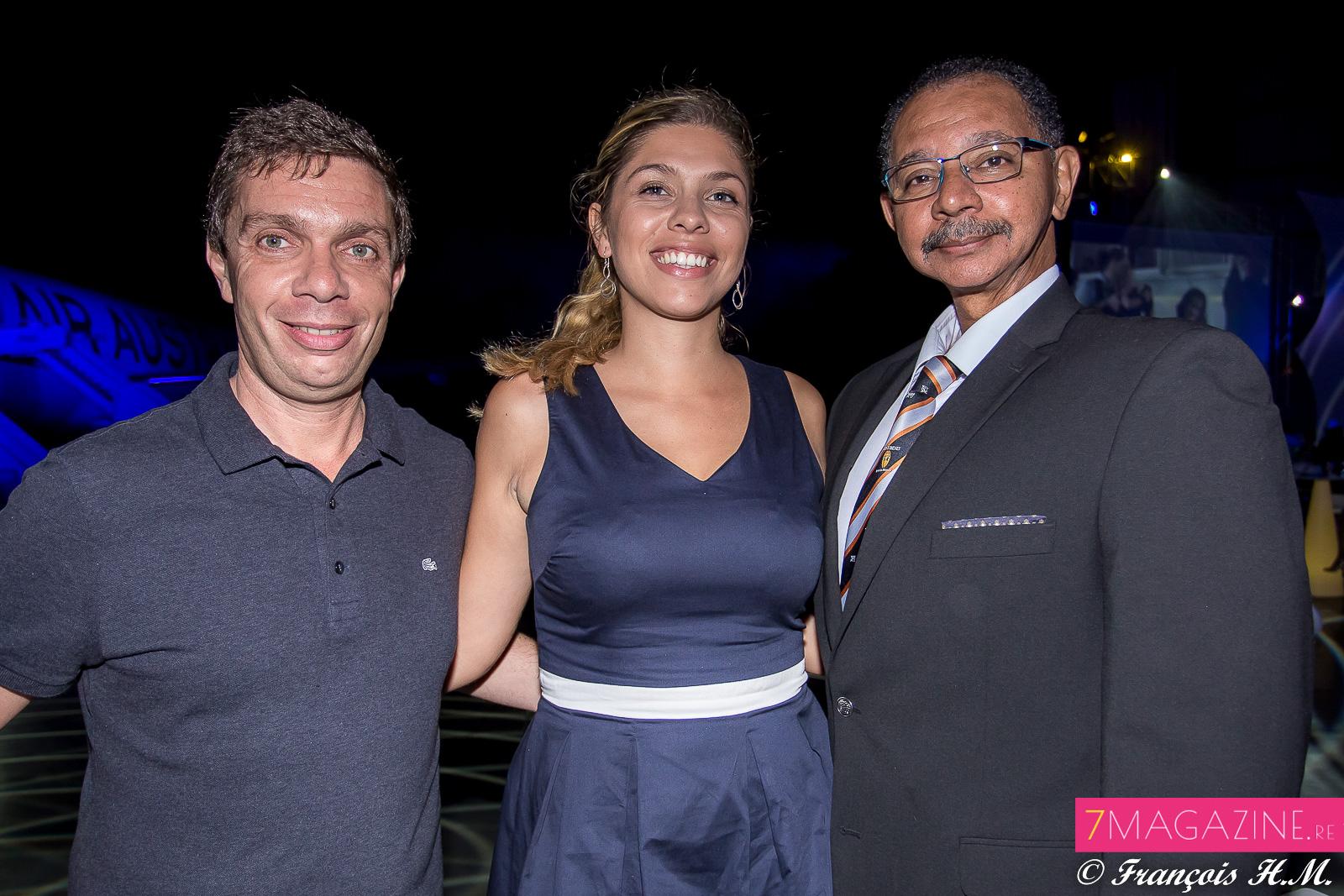 Jean-Charle Ottavi, une invitée, et Dominique Fontaine