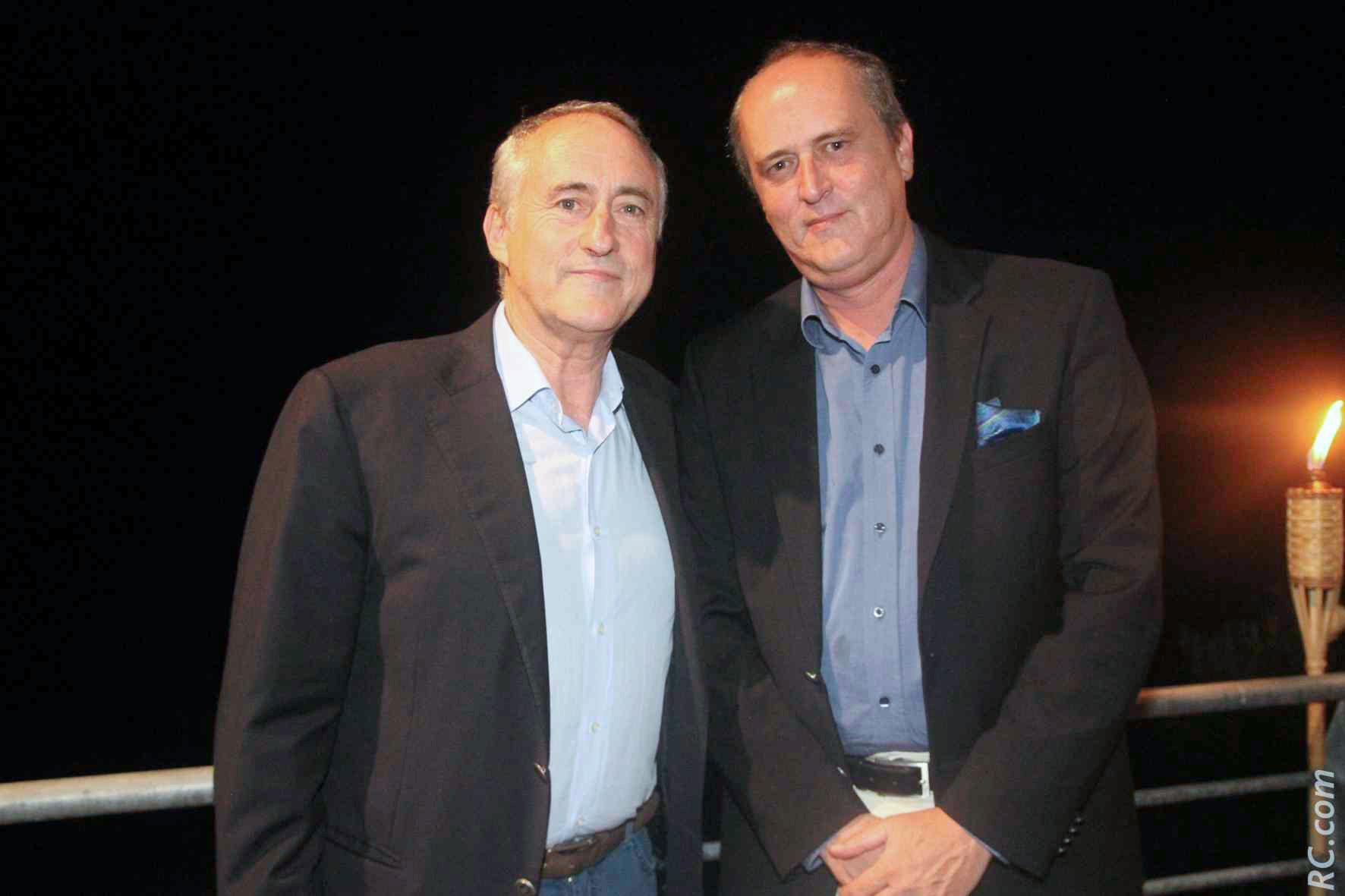 François Venin et Mr Vergoz de Transcontinents