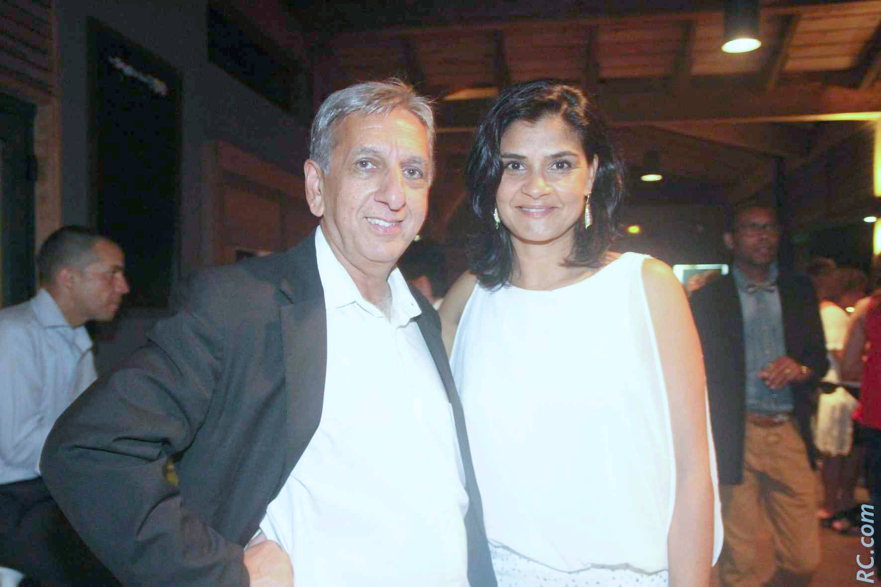 Aziz Patel et Arianne Devienne-Bellepeau