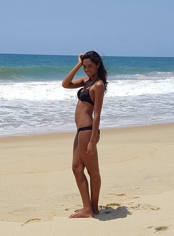 Ambre N'guyen, Miss Réunion 2016, en shooting à Madagascar