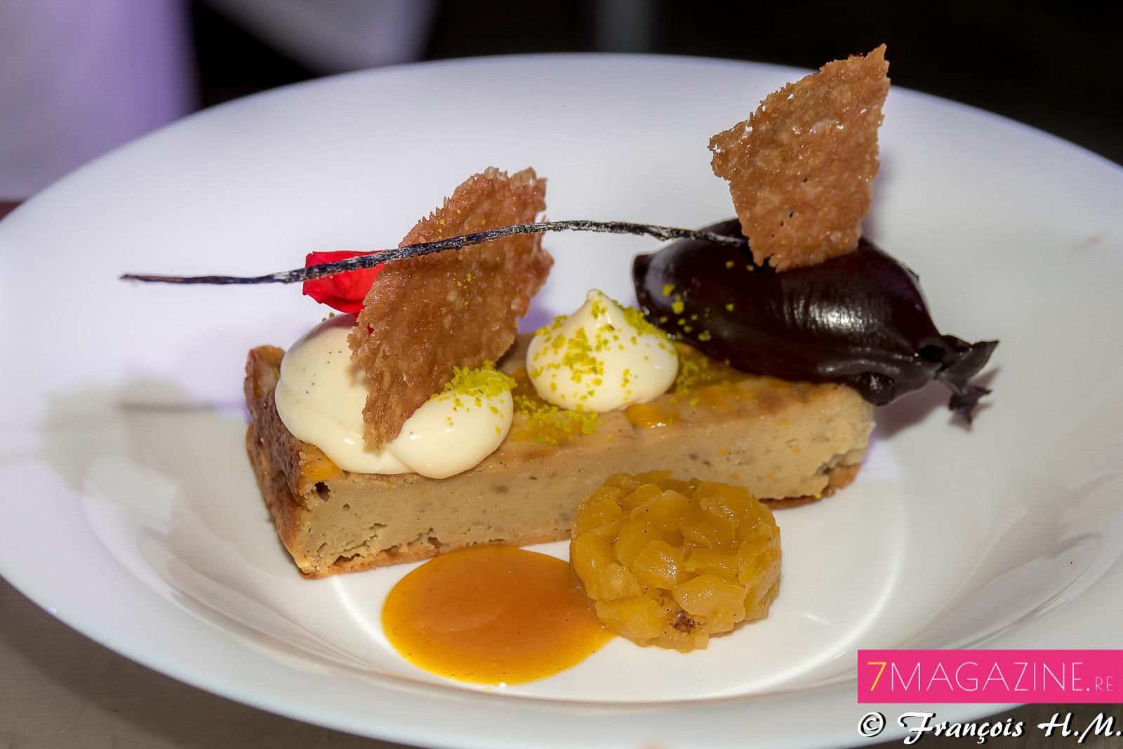 Le dessert: un moelleux de songe au tangor