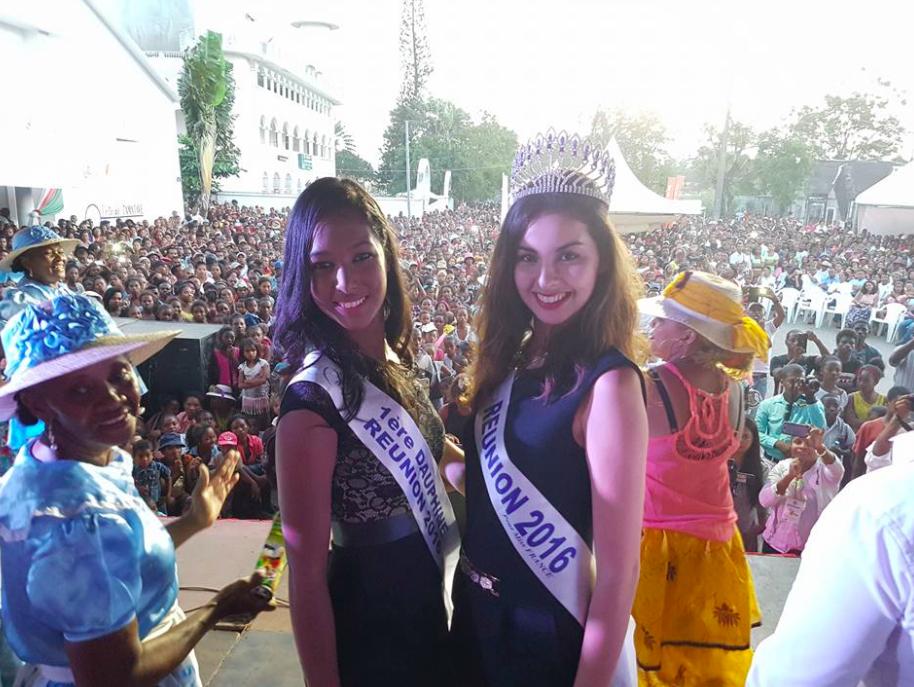 Raissa Cadarsi, première dauphine de Miss Réunion et Ambre N'guyen, Miss Réunion 2016