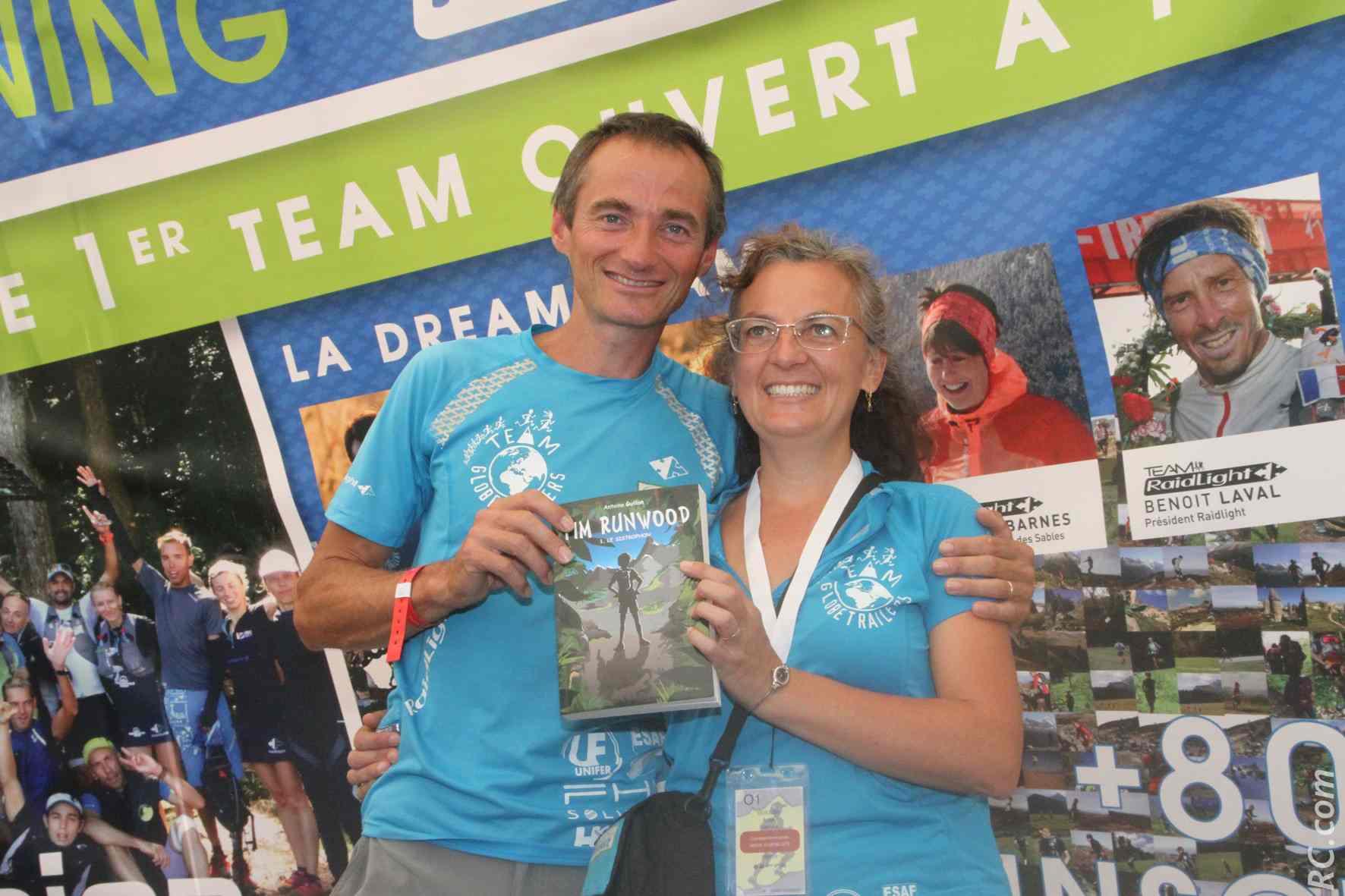 Ici avec son épouse, Antoine Guillon défendra son titre de 2015