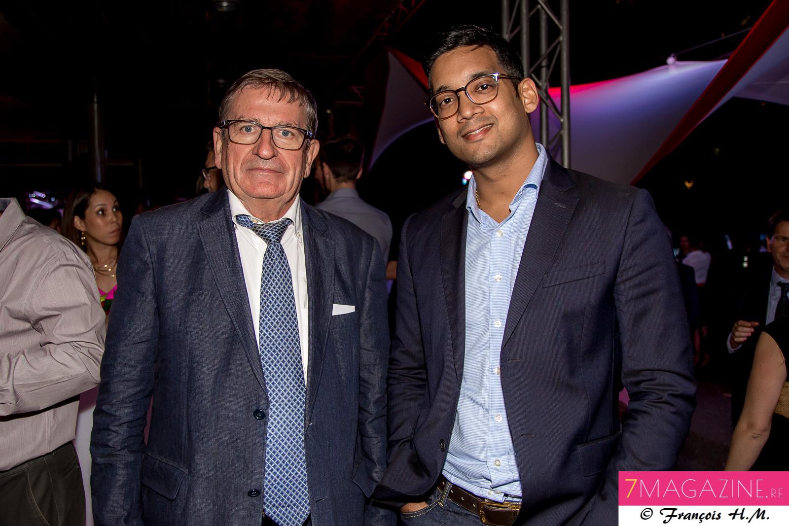 Dominique Fournel et Guillaume Narayanin, directeur  de la SPL Avenir