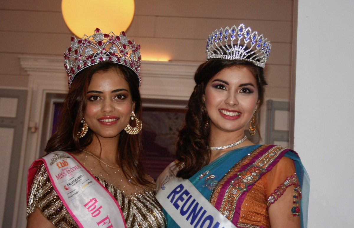 Priyadarshini Chatterjee, Miss India et Ambre N'guyen Miss Réunion
