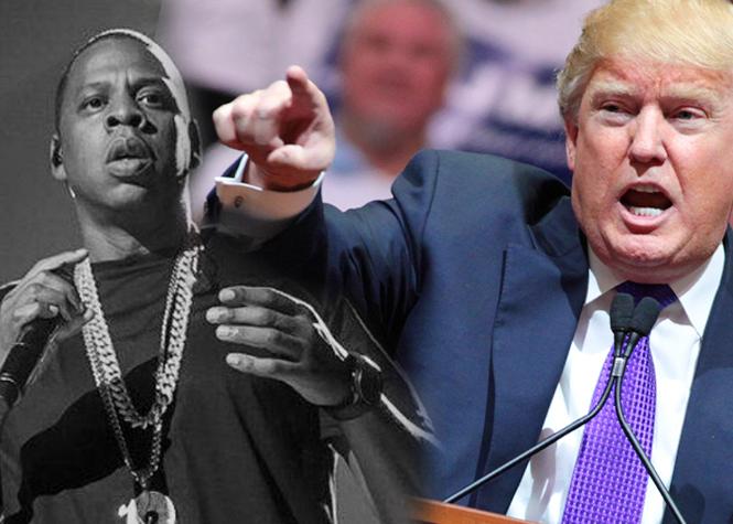 Trump clash Jay Z!