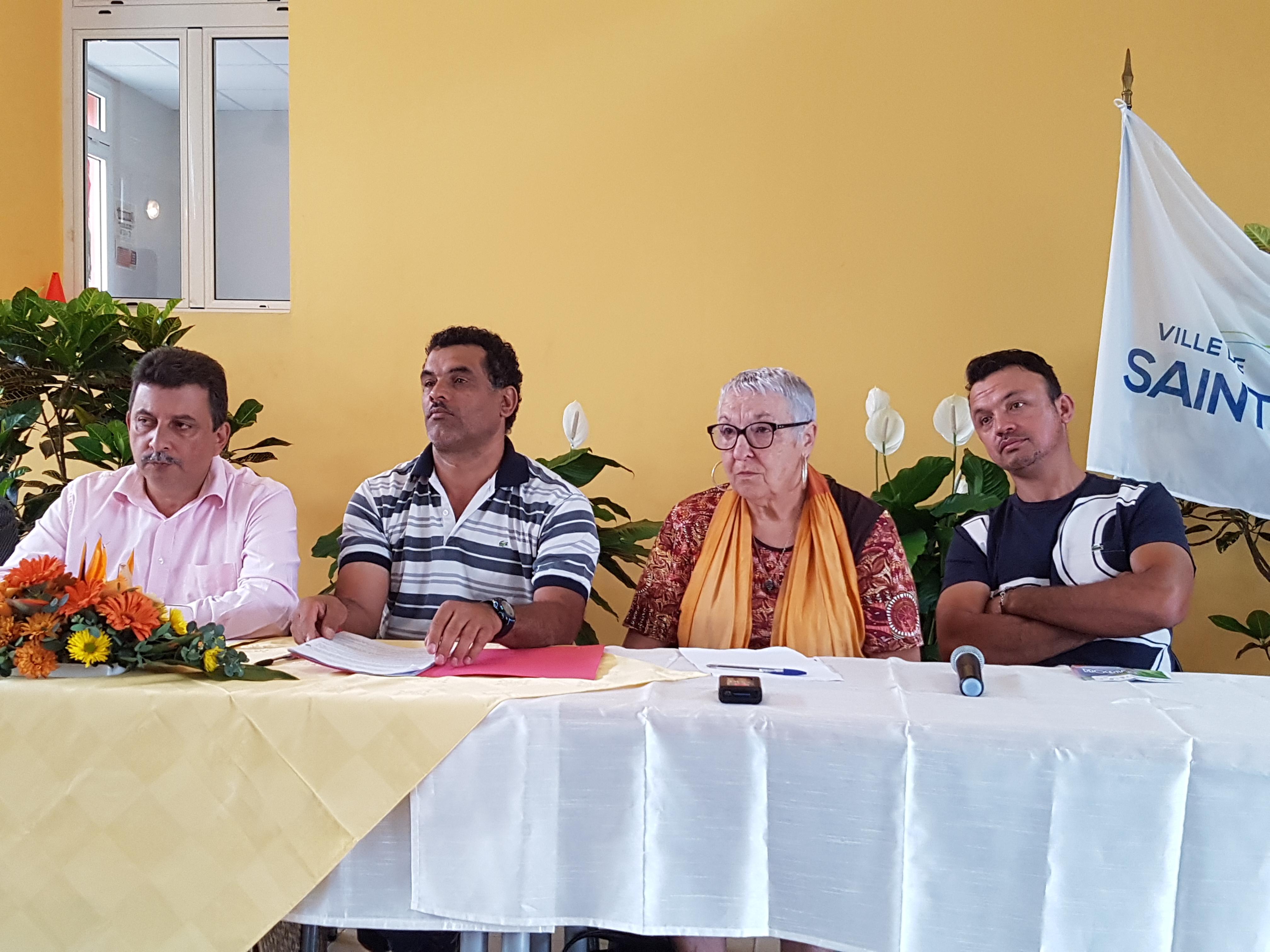 Lors de la conférence de presse de présentation avec les partenaires