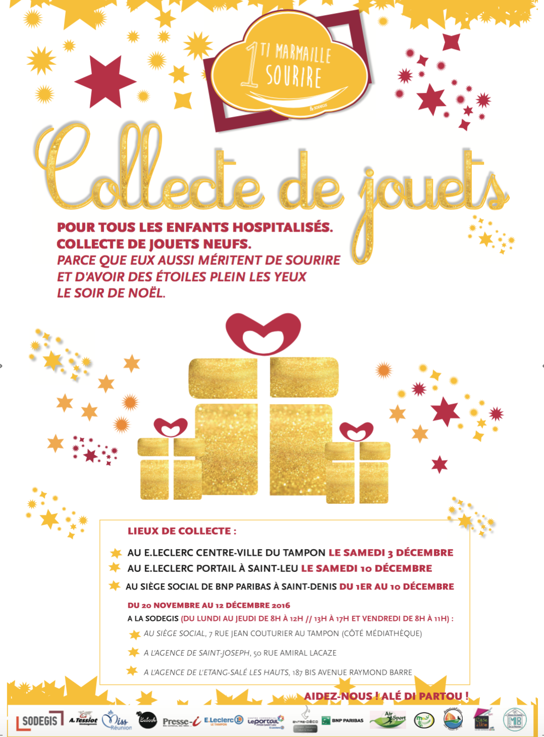 """Miss Réunion marraine de """"Un ti marmaille, Un sourire"""": collecte de jouets pour les enfants malades"""