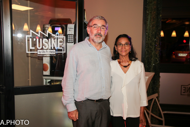 Le PDG de CBO Territoria Eric Wuillai et son épouse