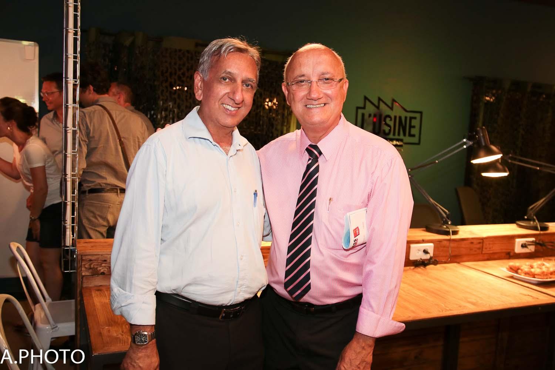 Aziz Patel et Patrick Bijoux