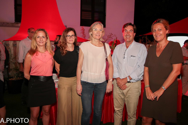 Sandrine Dunand-Roux, Pauline Boissimon, Isabelle Percebois, Amaury de Lavigne, et Catherine Galatoire