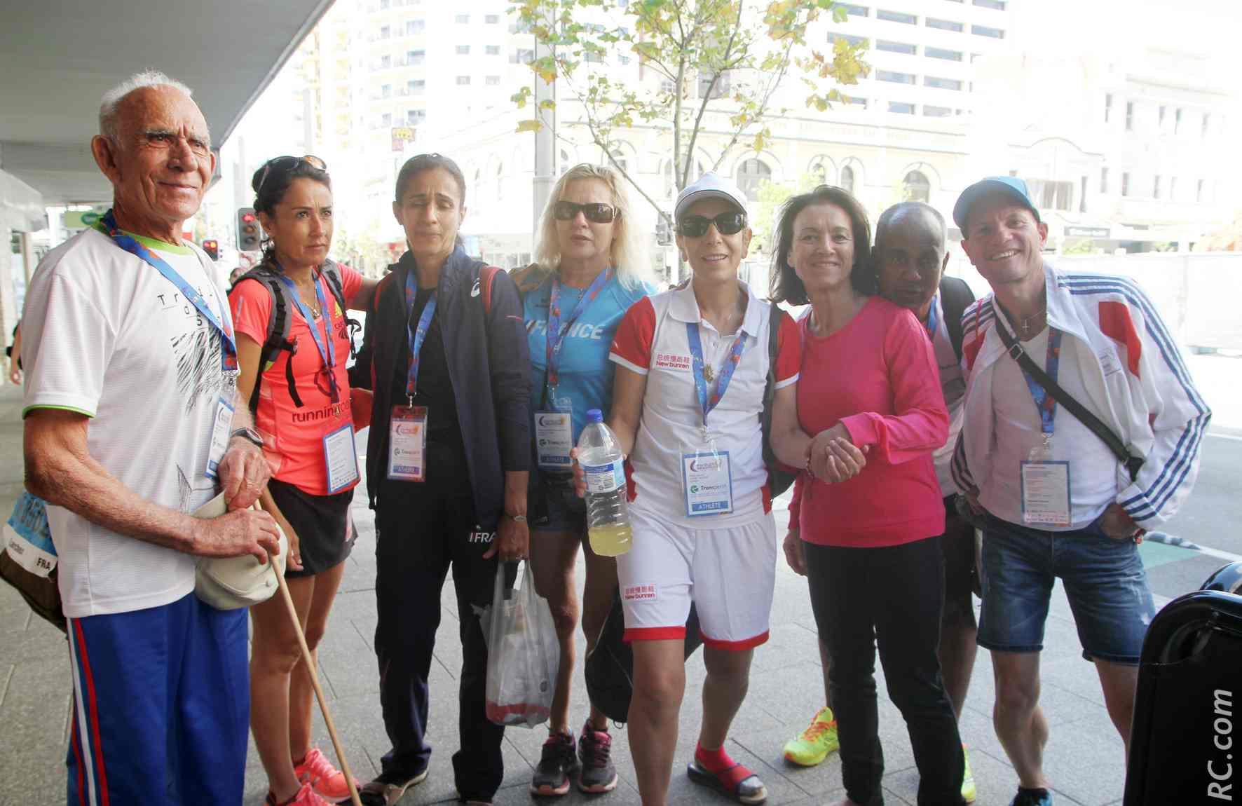 Des athlètes françaises rencontrées dans les rues de Perth