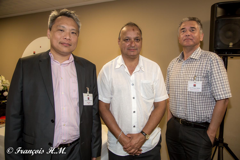 François Ho Poon Sung et Jean-Philippe Lebon de la BFC OI avec un invité