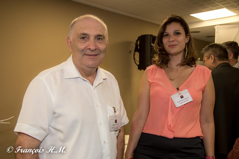Gérard Tejon et Emmanuelle Lacaille de la BFC OI