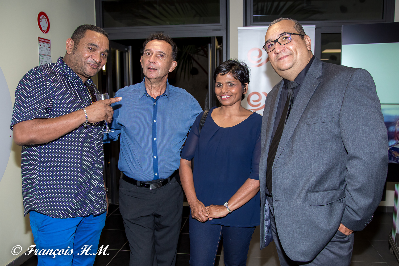 Farouk Patel, André Gigan, Vincent Hoarau et son épouse