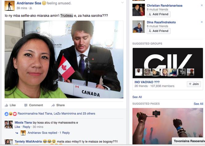 Le Premier ministre canadien a tapé dans l'œil des femmes malgaches