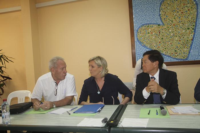 Jean-Michel Dubois, Marine Le Pen et André Thien Ah Koon