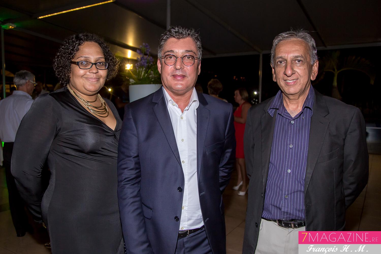 Emmanuelle Maillot, Gilles Calascibetta et Aziz Patel