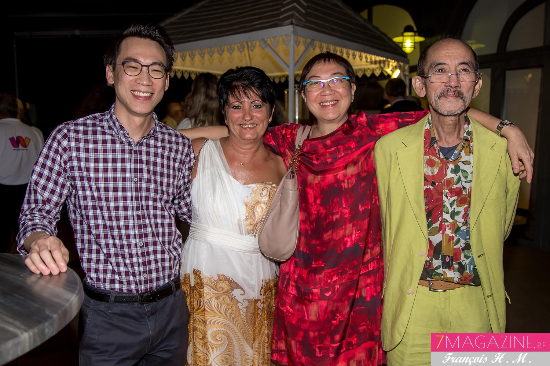 Françoise Bertrand et la famille Ah Fenne