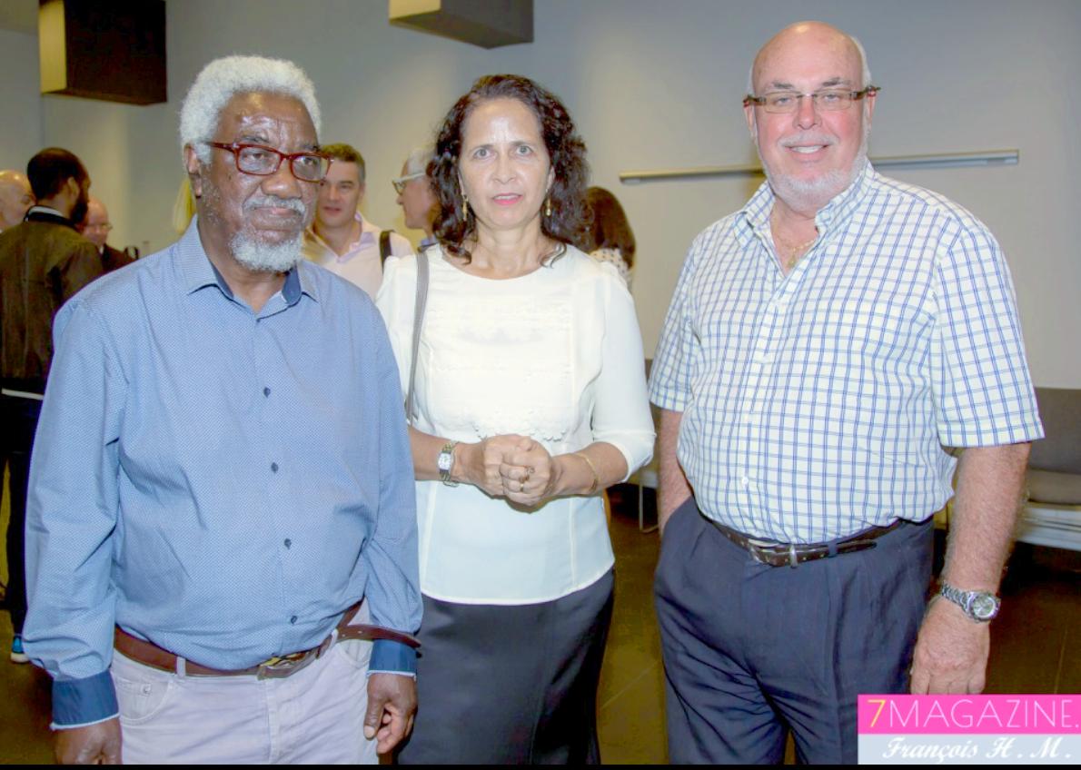 Brigitte Dulull de La Poste, Frédéric Foucque et un invité