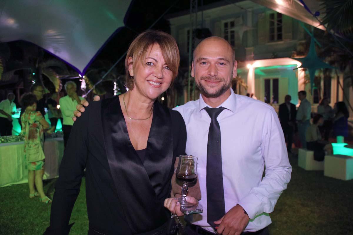 Brigitte Lauret, et Bertrand Picque, Responsable de la Banque privée BNP Paribas