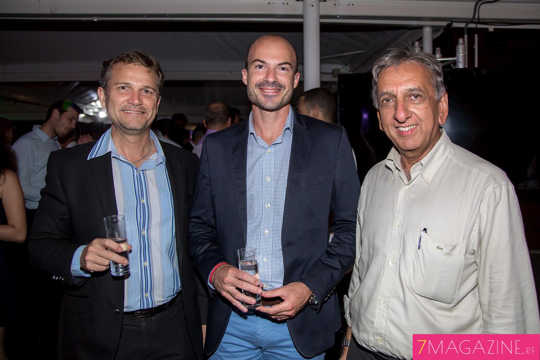 Olivier Rivière, Willy Ethève et Aziz Patel