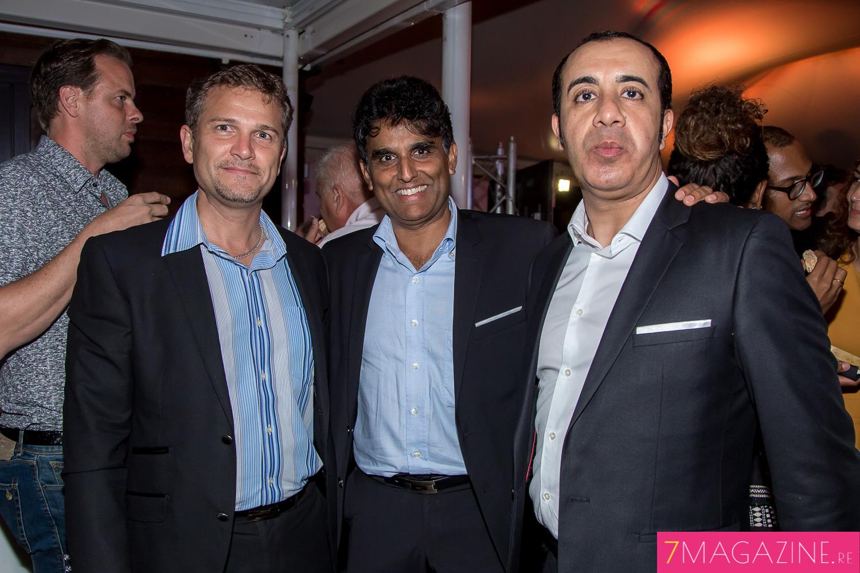 Olivier Rivière, Daniel Ramsamy et Fabrice Hanni