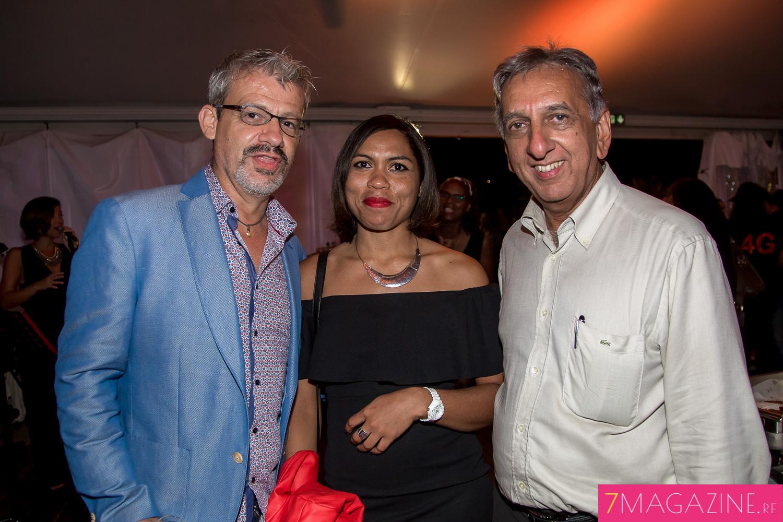 Olivier Ayamr et son épouse, et Aziz Patel